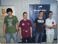 Ekipa Srbije (s leva na desno): Uglješa Stojanović, Luka Milićević, Boris Grubić, Aleksa Stanković