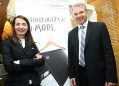 Dragana Ognjenovic i Erik Lalier, direktor HP grupe za personalne sisteme za Evropska trzista