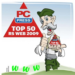 PC Press: WebTop 50 za 2009. godinu