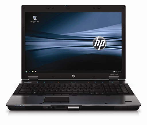 HP EliteBook 8740w - Front