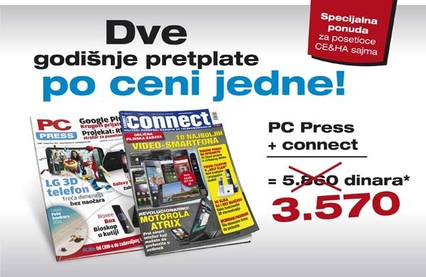 Dve pretplate za jednu za Connect