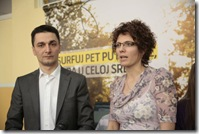 Branimir Kuzmanovic, predsednik Opstine Vracar i Maja Nibel, izvrsna direktorka ljudskih resursa