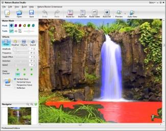 Farbanje površina predefinisanim tipovima četkica proizvodi odgovarajući tip animacije na željenom mestu