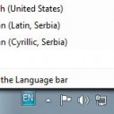 Windows7 - Izgubljeni Language bar