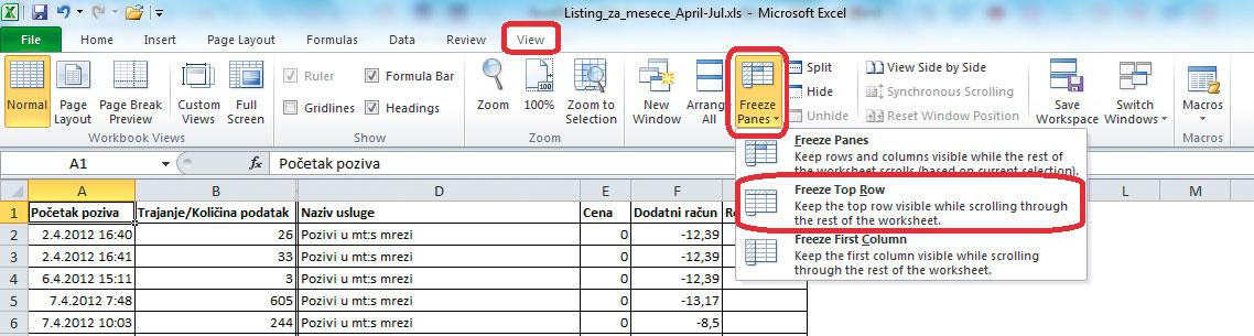 Excel-Zamrzavanje-panela-1