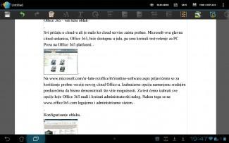 Office u lokalu ili u oblaku: za Android postoji nekoliko Office paketa; neki obezbeđuju samo čitanje Microsoft Office dokumenata, a oni bolji i uređivanje