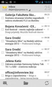 Poruke  u email sandučetu