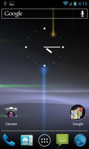 Osnovni ekran  Android telefona, pre bilo kakvih podešavanja i instaliranih aplikacija