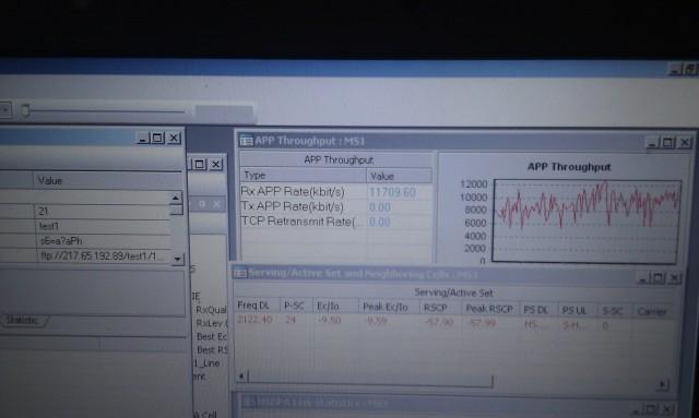 Izmerena brzina u Leskovcu, korišćen modem koji podržava do 42Mbps