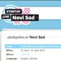 STARTUP LiVE Novi sad #1 od 12. do 14. aprila