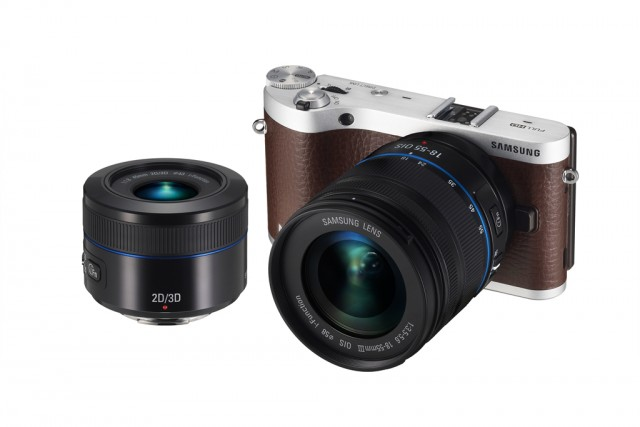 NX300 brown with 18-55 and 45-2