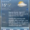 Android aplikacija - Yahoo! Weather 1.0.12