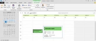 Outlook posta je glavni portal za dnevnu komunikaciju, koji kombinuje poslovni i privatni prostor (kliknite za veću sliku)