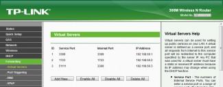 Podešavanje rutera za prosleđivanje portova u internu mrežu