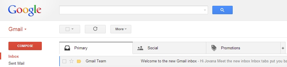 Stižu tabovi u Gmailu