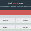 JustDelete.me - pomoć pri brisanju naloga