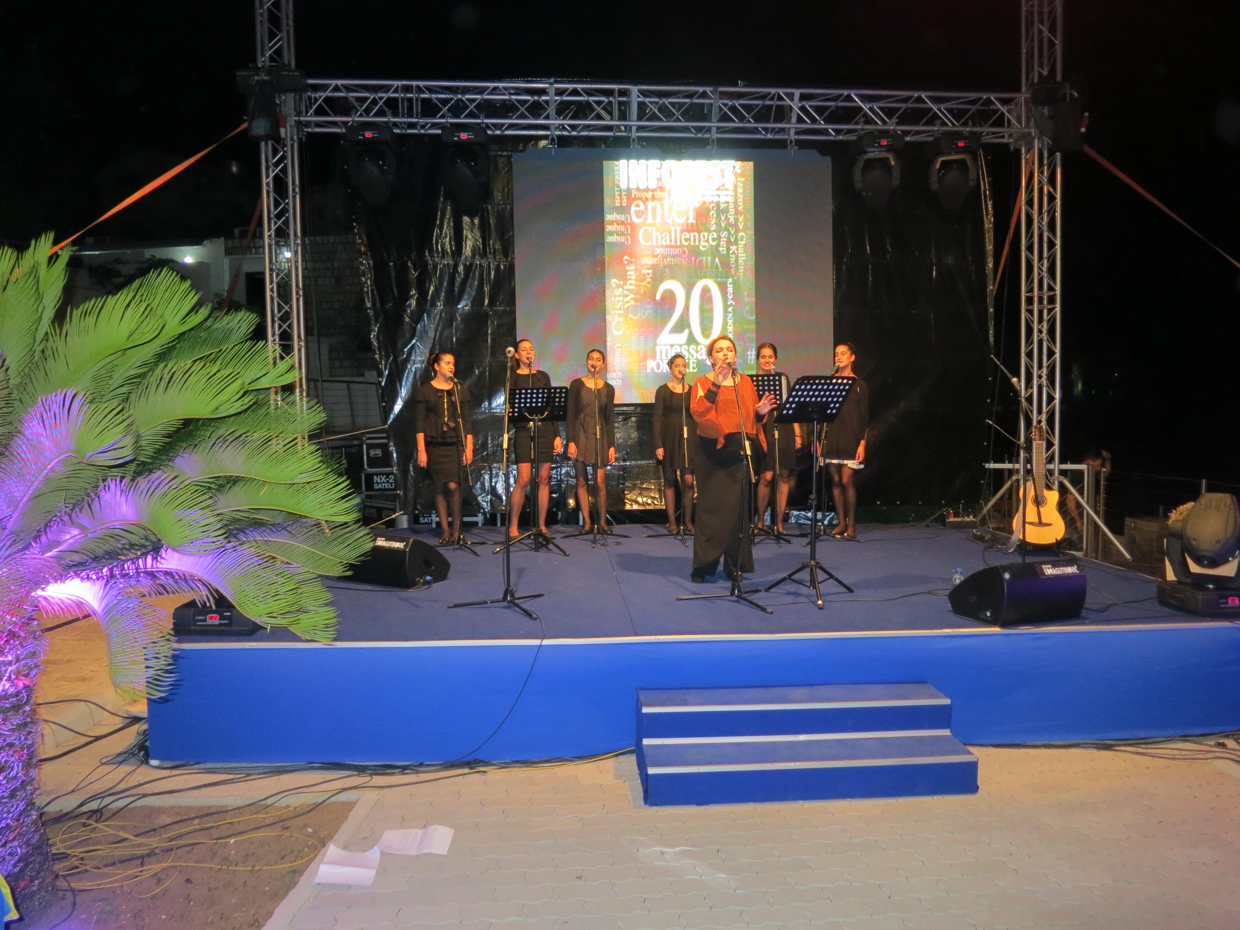 """Vokalni sastav """"Grlice"""" na otvaranju 20. INFOFEST-a"""