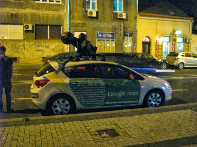 Google Street View vozilo u Beogradu (Photo: Bane Andreev, Google+)