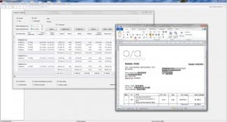 Prikaz izveštaja poslovnog sistema UniDocs Business Box i jednog od  poslovnih dokumenata koji utiče na dati izveštaj