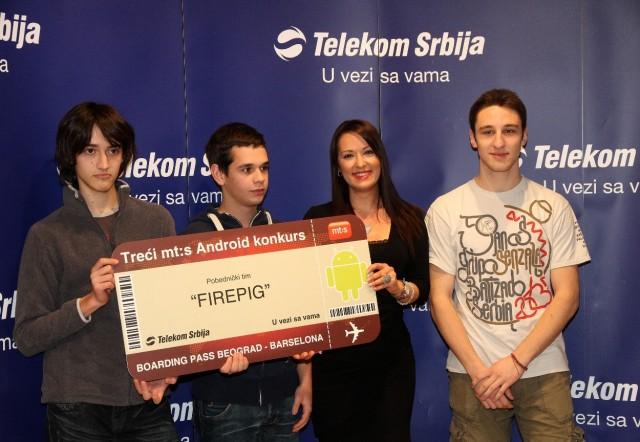 Marija Boskovic, Telekom Srbija sa pobednickim timom