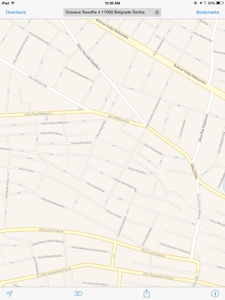 Delić Apple mape Beograda