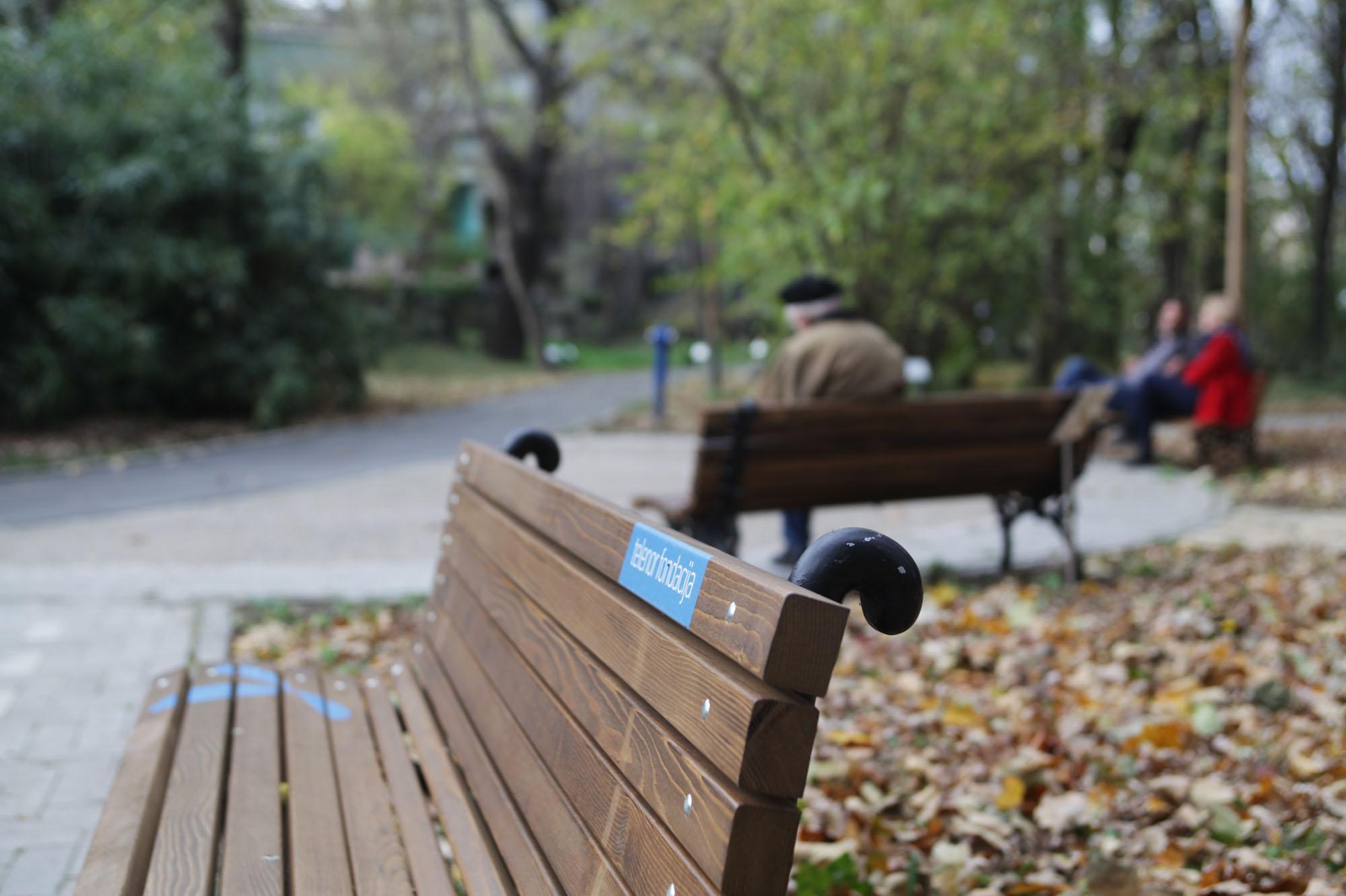 Besplatan internet i klupe za odmor u Botanickoj basti
