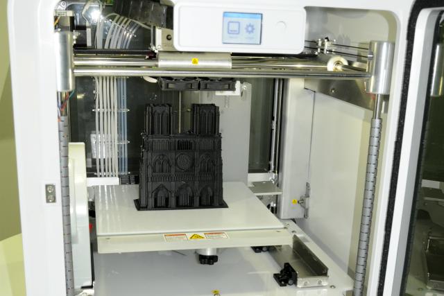 Model katedrale napravljen  pomoću 3D Systems CubePro štampača u Jet Direct-u
