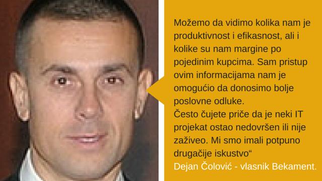 Dejan Čolović, vlasnik kompanije Bekament