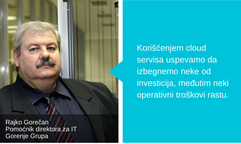 Rajko Gorečan Pomoćnik direktoraza IT Gorenje Grupa