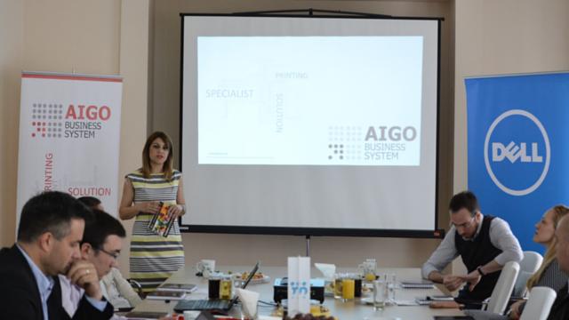 Zorica Dodić - Izvršna direktorka kompanije AIGO BS docekala je predstavnike medija u prostorijama Srpske asocijacije menadžera