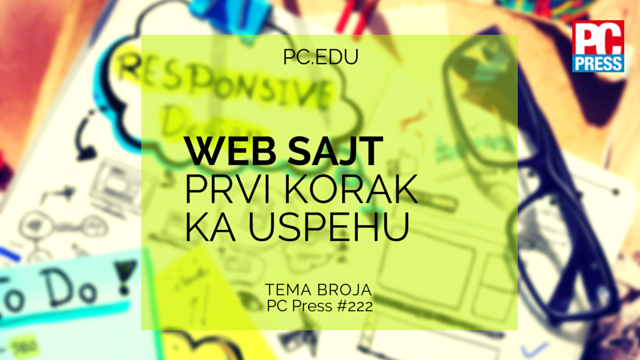Web sajt - prvi korak ka uspehu pcpress.rs