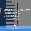 Word - Optimalna vidljivost poglavlja