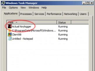 """Neki od programa koji  """"kradu"""" šifre mogu da se vide  i u Task Manager-u"""