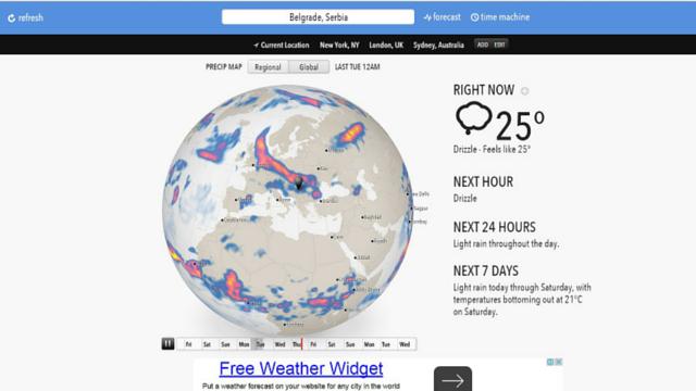 Forecast.io vremenska prognoza
