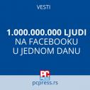 Facebook piše istoriju: 1.000.000.000 ljudi na mreži u jednom danu
