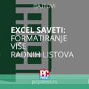 EXCEL - Formatiranje više radnih listova
