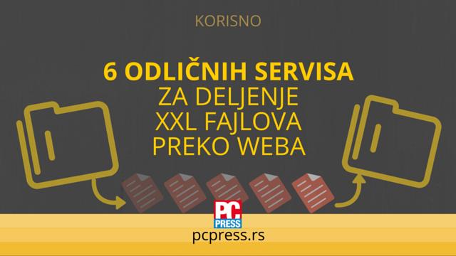 servisi deljenje XXL fajlovi pcpress