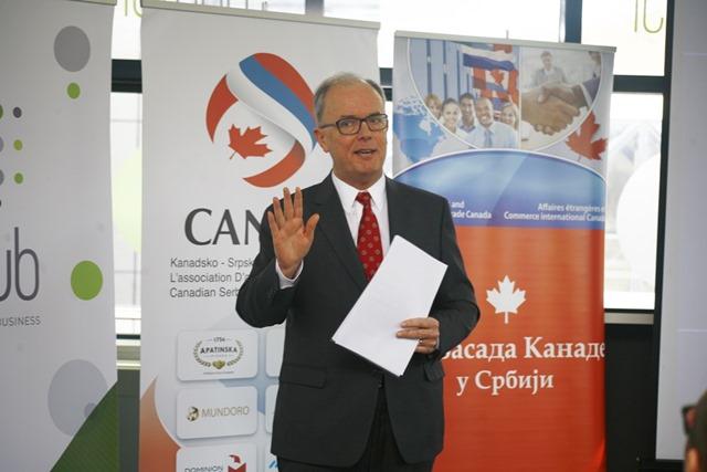 Nj.E. Filip Pinington, ambasador Kanade u Srbiji na radionici u ICT Hubu