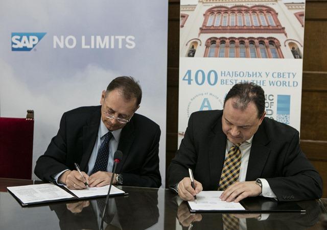 Potpisivanje ugovora o priklucenju UB globalnom programu SAP UA