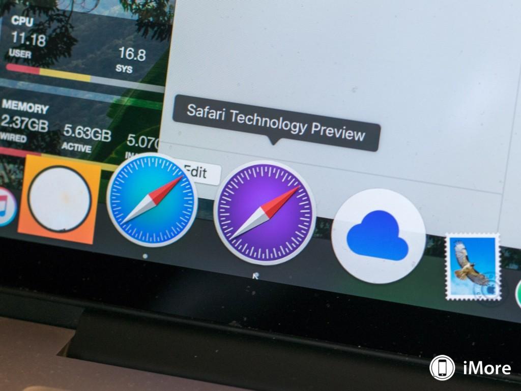 Safari Technology Preview u OS X dock-u