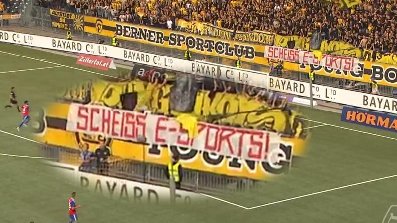 Fudbal i esport protest huligani navijači bazel young boys švajcarska