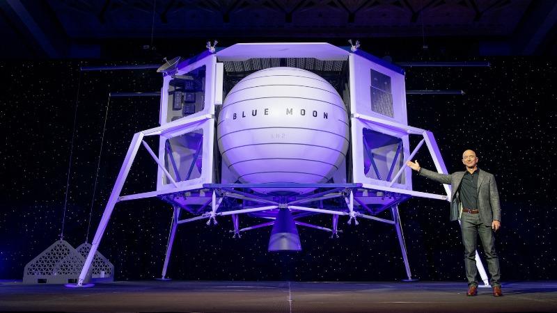 Jeff Bezos ide na Mesec svemirska letelica Blue Moon
