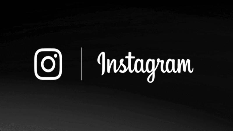 Instagram dark mode logo