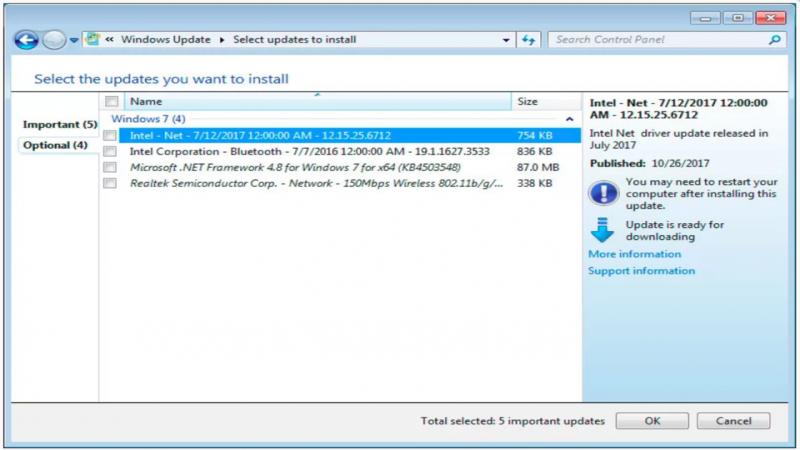 Microsoft Update Windows 7