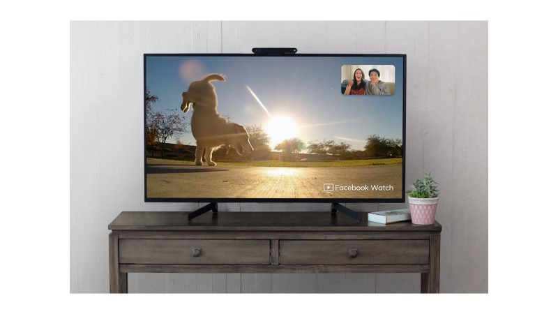 Portal TV device on a TV