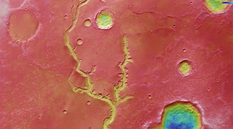Evropska svemirska agencija i fotografija rečnog korita sa Marsa
